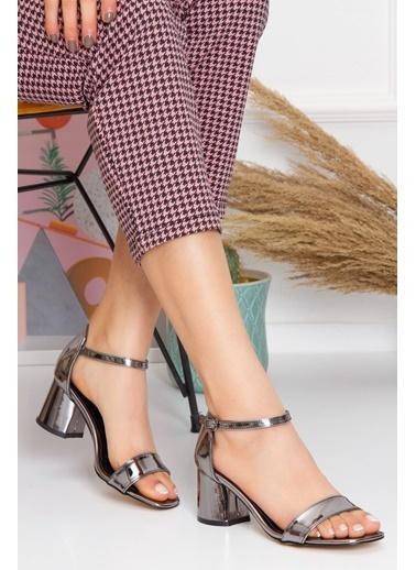Derithy Losya Topuklu Ayakkabı-Rose-Byc1308 Gümüş